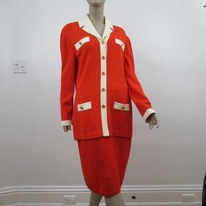 St John Collection Marie Gray Suit Blazer Jacket K